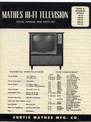 "Curtis Mathes Service Manual ""Super G"" Television."