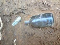 Preserve bottle and Whiskey bottle