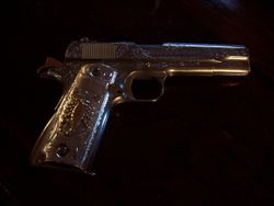 Colt 1911 engraved by John Seay