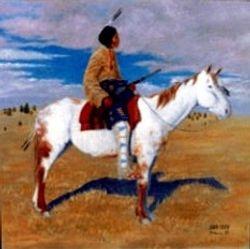 Lakota Warrior on Horse