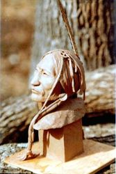 Lakota Warrior (Clay) by John Seay