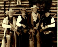 "L to R: Johnny Seay, ""Hobo"" Bo Powell, ""SunKink"" Sonny King & ""Dapper"" Dan Carey"