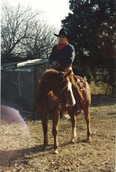Johnny Seay on a ranch horse