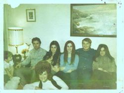 This photo was made about 1975 I think. All my sister's and my brother and mother are here.