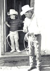 My daughter Shannon in the early 1970's with Riley Miller on the the Miller Ranch