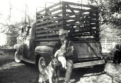 Johnny Seay and new daughter Shannon 1962