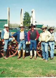 Johnny and friends at a Chuckwagon gathering