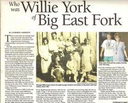 The most recent artical about Willie York and the song I wrote about.