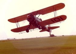 Taking off at Godley, TX 1982.