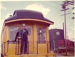 A.T. & S. F. Ry. (Santa Fe) yard Cleburne, Texas 1973.