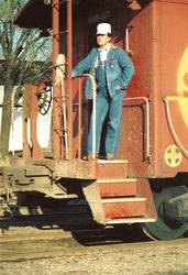 I was a young Railroad Brakeman on the Santa Fe when this photo was made at Paris, Texas in 1973.