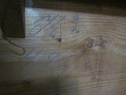 Original number markings underneath