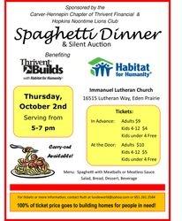 2014 Thrivent Spaghetti Dinner Flier