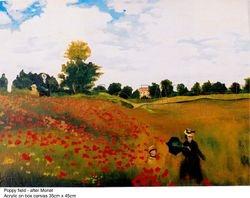Poppy Field, after Monet
