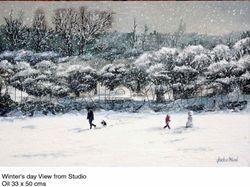 Winter's day View from Studio, Stoney Stanton