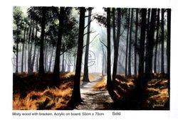 Misty Wood with Bracken