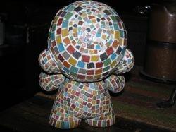 7 inch custom mosaic munny back
