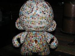 7 inch custom mosaic munny front