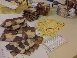 Preparing tags for Costco..