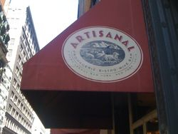 On my way to work... stopped by the Artisanal Restaurant on Park Ave.