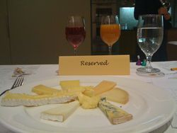 My reserved spot at Artisanal Cheese Class