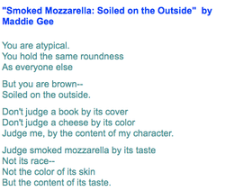 Smoked Mozzarella: Soiled on the Outside by Maddie