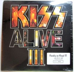 Sealed White KISS Alive III