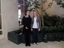 Linda and Jo at SF Towers, 2/16/14'