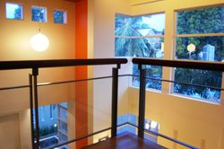Tempered Glass Railing and Corner Window