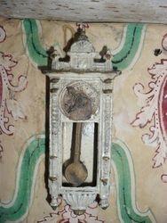 Shabby German wall clock