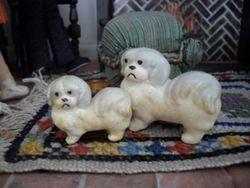 Plaster dogs