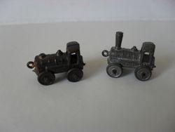 Two train cracker toys