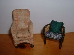 Small armchair and Bergere chair