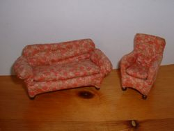 Small scale sofa and chair