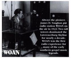 Vaughn begins 1st radio Station