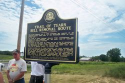 BELLS ROUTE OF TRAIL OF TEARS SIGN