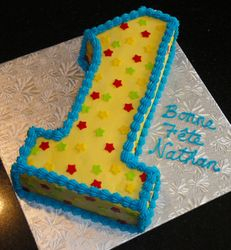 First Birthday Cake for Nathan