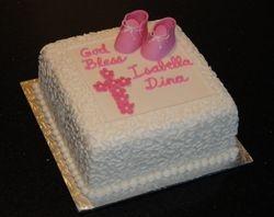 Baptism Cake for Isabella