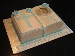 Baptism Bible cake for Lucas