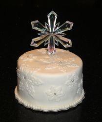 Snow flake Wedding Topper cake