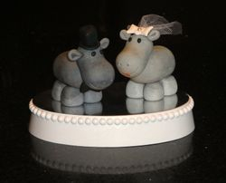 Hippo Wedding Toppers