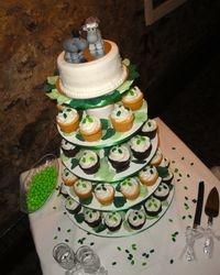 Hippo Wedding Cake and Cupcakes