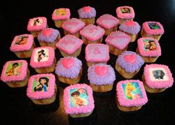 Tinkerbell Square Cupcakes