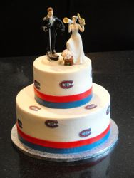 Montreal Canadiens Themed Wedding Cake