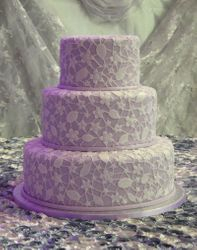 Lilac Fondant and Lace design