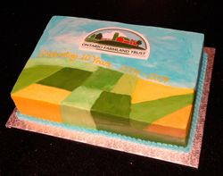 U of G Ontario Farmland Trust 10th Anniversary Cake