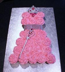 Princess Cupcake Dress 1st Birthday Cake