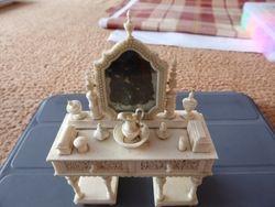 Bone carved dressing table