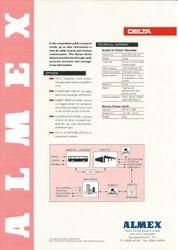 Almex A90 Sales Leaflet (rear)