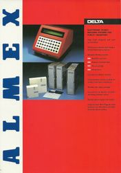 Almex A90 Sales Leaflet (front)